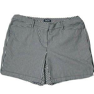 Lands' End Black White Checker Bermuda Shorts